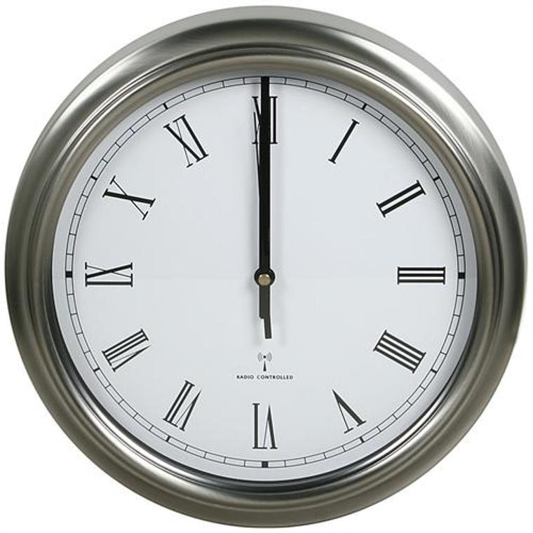 metal funk wall clock radio clock 31 5cm station clock steel clock roman numerals ebay. Black Bedroom Furniture Sets. Home Design Ideas
